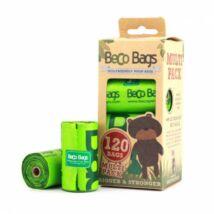 Beco Pets - Lebomló öko kakizacskó, 120 db-os multipack kiszerelés