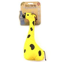Beco Pets - George a Zsiráf állatfigura, újrahasznosított anyagból készült,méreganyagmentes, sípoló