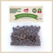 Leiky 100% természetes szárított nyúl falatok erdei gyógynövényekkel