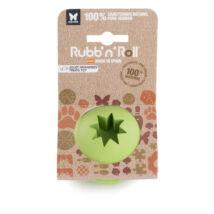 Rubb'n'Treat - Jutalomfalattal tölthető, méreganyagmentes és környezetbarát labda, zöld 7 cm