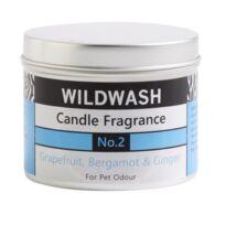 WildWash Pro - 100% természetes szagsemlegesítő és aromaterápiás gyertya - Grapefruit, Gyömbér