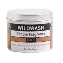 WildWash Pro - 100% természetes szagsemlegesítő és aromaterápiás gyertya - Édes narancs, cédrus