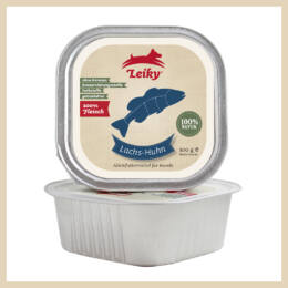 Leiky 100% színhús - lazac, csirke