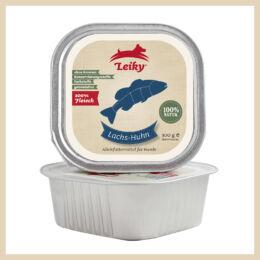 Leiky 100% lazac, csirkehús és belsőségek