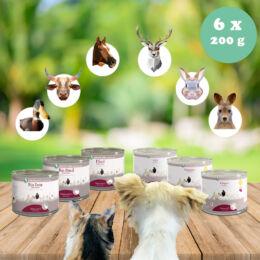 100% hús monoprotein próbacsomag allergiás kutyáknak, macskáknak 6 x 200 g