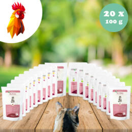 Bio csirkehús menü - sárgarépa, kamut 20 x 100g