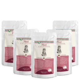 Lóhús menü macskáknak - bio sárgarépával, bio kókuszpehellyel 5 x 100 g