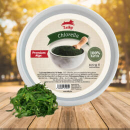 100% Chlorella zöldalga por kutyáknak, Leiky, 100g