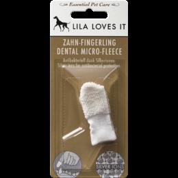 Ujjra húzható fogkefe kutyáknak és macskáknak - ezüstionos, Lila Loves It