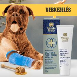 Orvosi sebkezelő Manuka méz kutyáknak és macskáknak, 30 ml