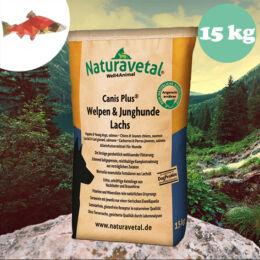 Naturavetal Kölyök és Junior Lazac monoprotein száraztáp 15 kg - hidegen sajtolt, allergiás kutyáknak