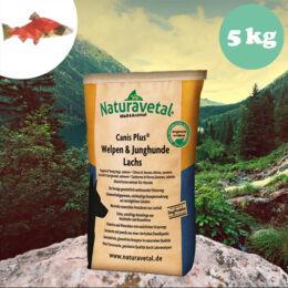 Naturavetal Kölyök és Junior Lazac monoprotein száraztáp 5 kg - hidegen sajtolt, allergiás kutyáknak
