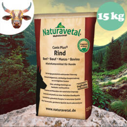 Naturavetal Marhahús monoprotein száraztáp 15 kg - hidegen sajtolt, allergiás kutyáknak