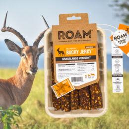 ROAM - Dél-Afrikai szabad tartású antilop húscsíkok, jutalomfalat allergiás kutyáknak, füstölt