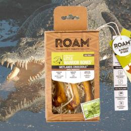 ROAM - 100% krokodil lábcsont rágóka kutyáknak, füstölt (3db)