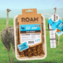 ROAM - Dél-Afrikai szabad tartású strucc húscsíkok, jutalomfalat allergiás kutyáknak
