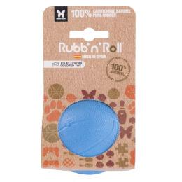 Rubb'n'Roll - Méreganyagmentes és környezetbarát labda, kék 7 cm