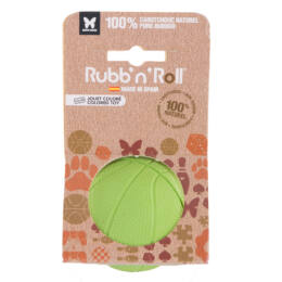 Rubb'n'Roll - Méreganyagmentes és környezetbarát labda, zöld 7 cm