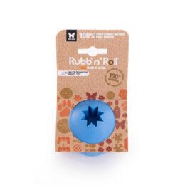 Rubb'n'Treat - Jutalomfalattal tölthető, méreganyagmentes és környezetbarát labda, kék 7 cm