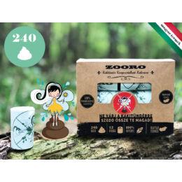 Zooro - Kakitündér lebomló és komposztálható Kakizacskó, 240 db-os kiszerelés