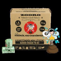 Zooro - Kakitündér lebomló és komposztálható Kakizacskó, 1080 db-os kiszerelés
