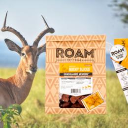 ROAM - 100% antilop jutalomfalat allergiás kutyáknak - fagyasztva szárított