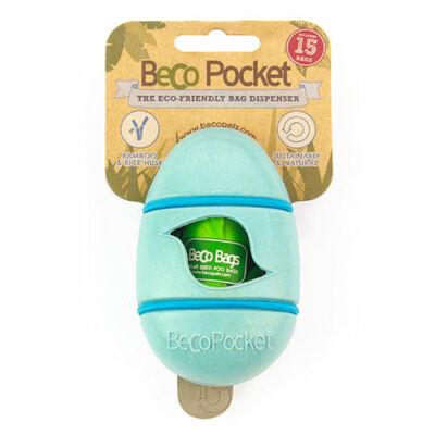 Beco Pets - Kék könnyen rögzíthető kakizacskó tartó növényi rostokból