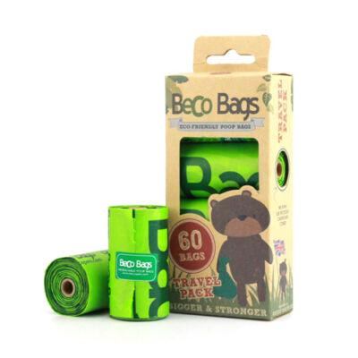 Beco Pets - Lebomló öko kakizacskó, 60 db-os utazó kiszerelés