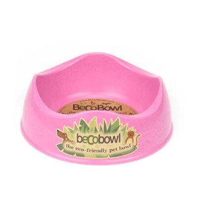 Beco Pets - Méreganyagmentes rózsaszín tál bambuszból és rizspelyvából, 17 cm