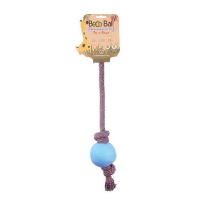 Beco Pets - Méreganyagmentes kék labda pamut kötélen