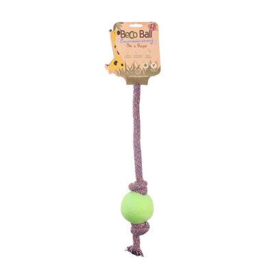 Beco Pets - Méreganyagmentes zöld labda pamut kötélen