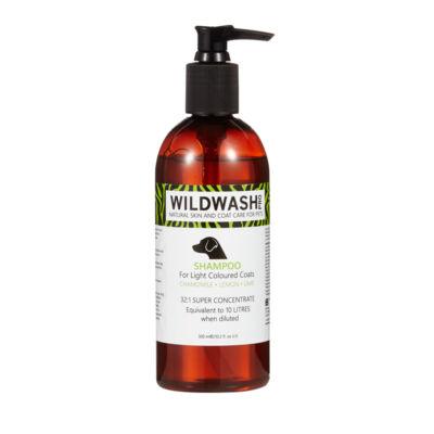 WildWash Pro - 100% természetes kutyasampon világos szőrre 1:32 = 9,6 liternyi