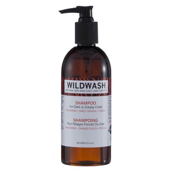 WildWash Pro - 100% természetes kutyasampon sötét vagy zsíros szőrre 1:32 = 9,6 liternyi