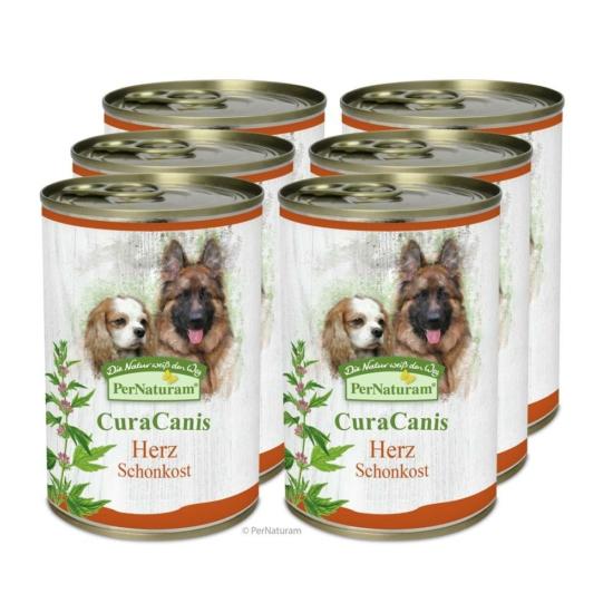 CuraCanis® 100% természetes kutyaeledel Szívproblémákkal küzdő kutyáknak  6 x 400 g, Pernaturam