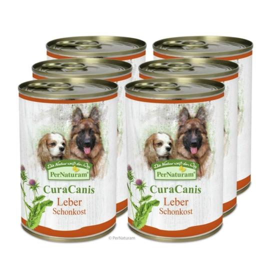 CuraCanis® 100% természetes kutyaeledel Májproblémákkal küzdő kutyáknak  6 x 400 g, PerNaturam