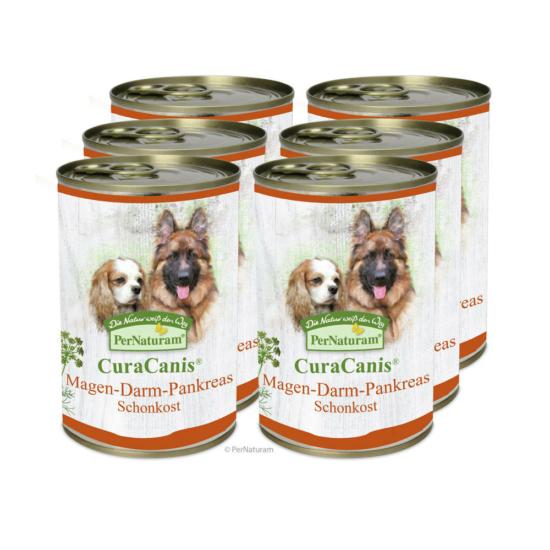 CuraCanis® 100% természetes kutyaeledel Gyomor-bél-hasnyálmirigy problémákkal küzdő kutyáknak  6 x 400 g, Pernaturam