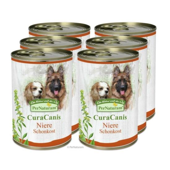 CuraCanis® 100% természetes kutyaeledel Vese problémákkal küzdő kutyáknak  6 x 400 g, PerNaturam